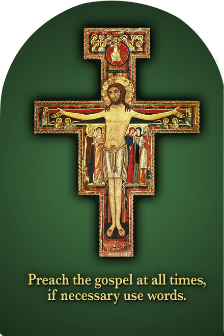 Preach the Gospel Cross Arched Magnet