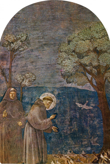 St. Francis with Birds Arched Magnet
