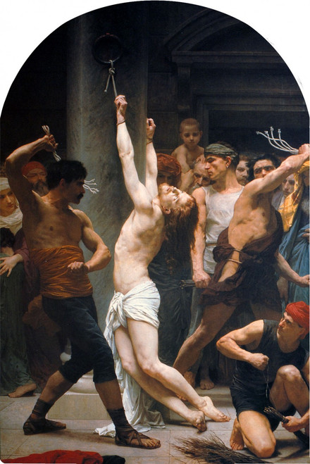The Flagellation of Christ Arched Magnet