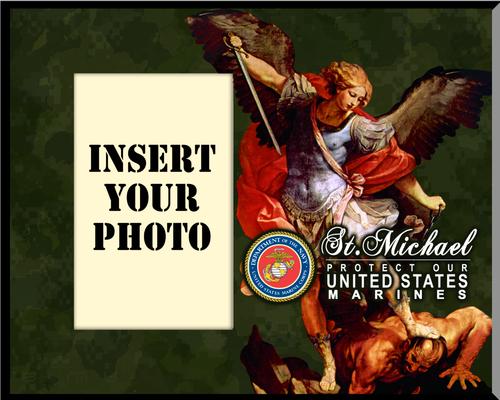 Marine St. Michael Photo Frame