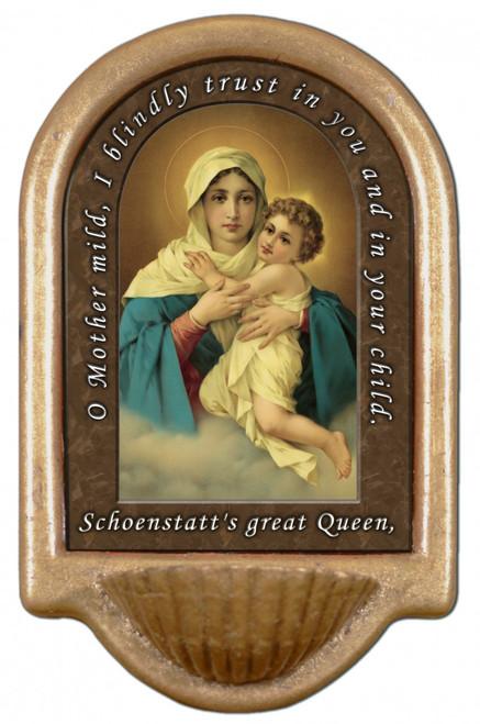 Schoenstatt Madonna Prayer Holy Water Font