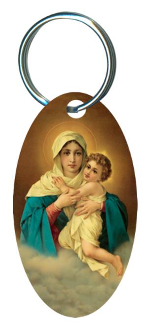 Schoenstatt Madonna  Oval Keychain