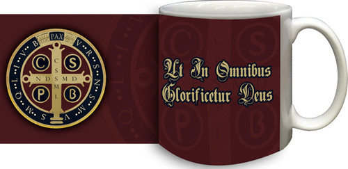 Benedictine Medal (Latin) Coffee Mug