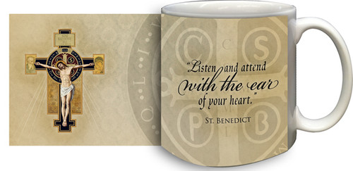 Benedictine Cross Coffee Mug