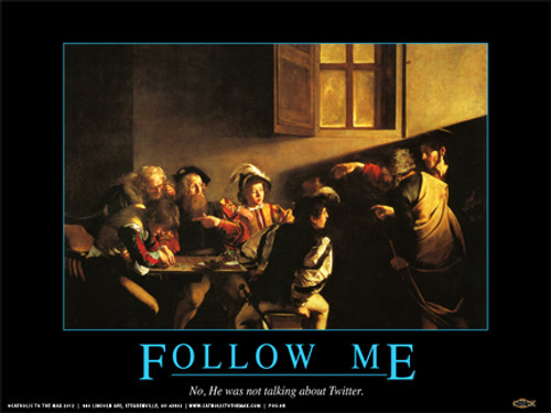 """Follow Me on Twitter"" Poster"