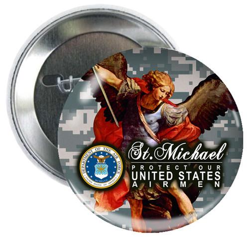 Air Force St. Michael Button