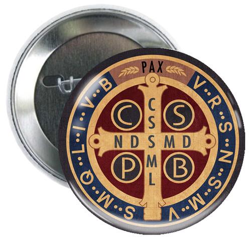 Benedictine Medal Button