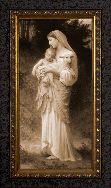 L'Innocence by Bouguereau - Sepia Framed Art