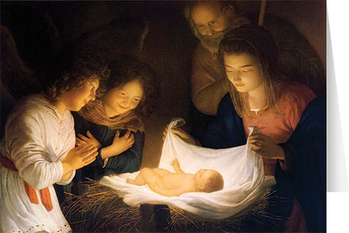 The Nativity (Honthorst) Christmas Cards