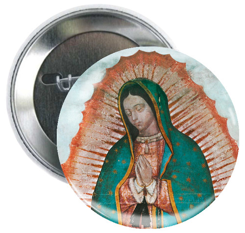 Our Lady of Guadalupe (detail) Button