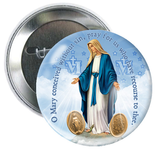 Our Lady of Grace (Miraculous Medal) Button