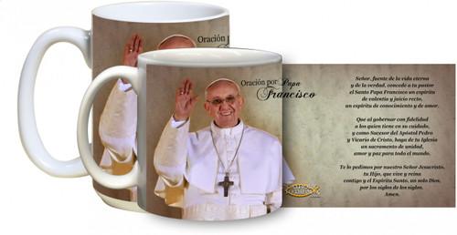 El Papa con Francisco Taza del rezo