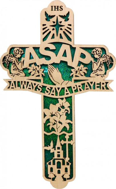 ASAP Acronym Engraved Cross