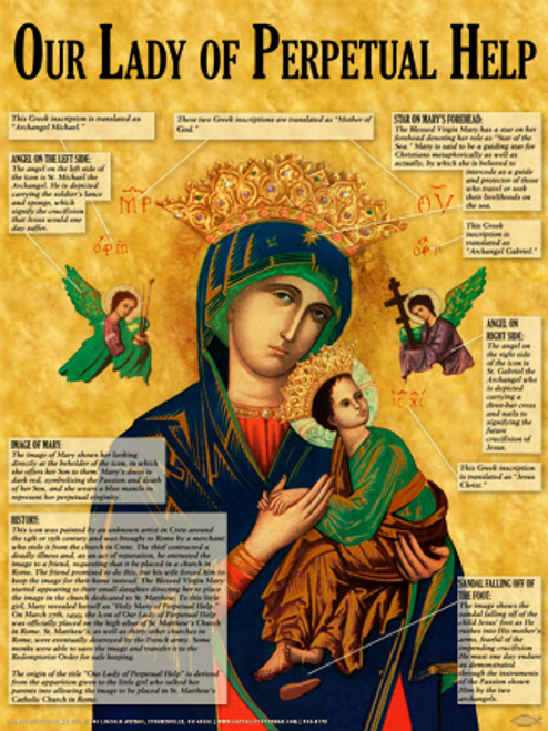 Our Lady of Perpetual Help Explained Poster