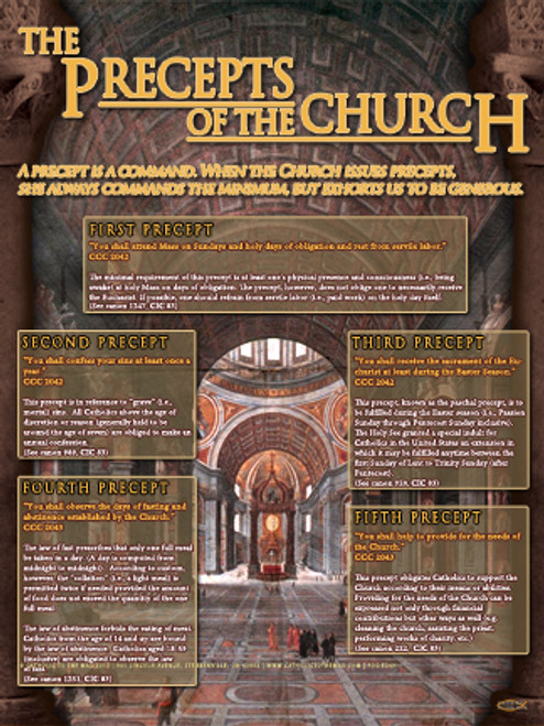 The Precepts of the Church Explained Poster