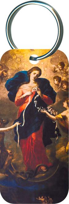 Mary Undoer of Knots Rectangular Keychain