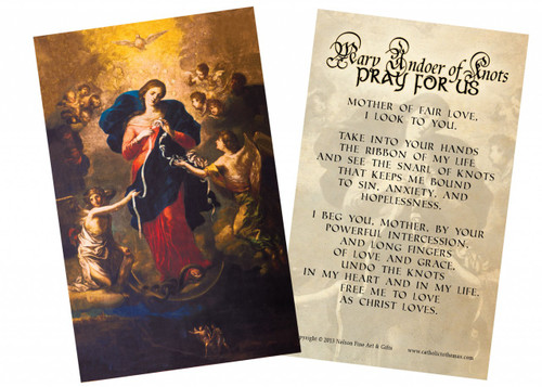 Mary Undoer of Knots General Prayer Holy Card