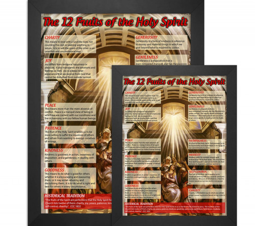 Classroom Decor Gifts ~ The twelve fruits of holy spirit explained poster