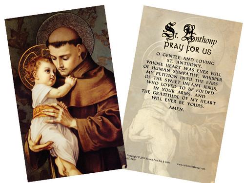 St. Anthony Holy Card