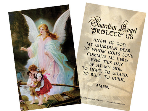 Guardian Angel Holy Card