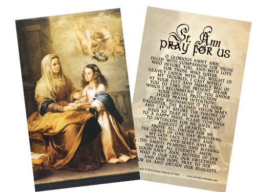 St. Anne Holy Card