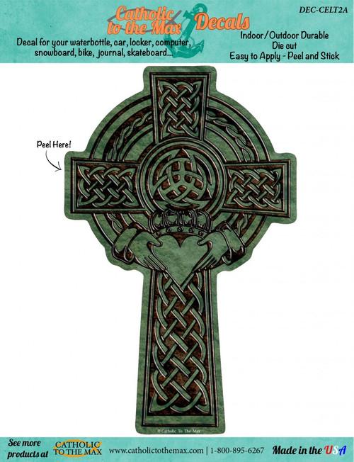 Celtic Claddagh Cross Decal