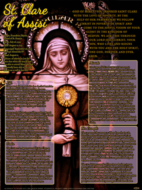 St. Clare of Assisi Explained Poster