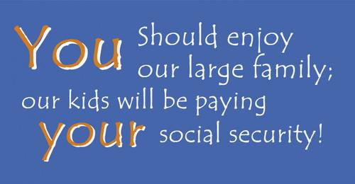 Enjoy Our Large Family Vinyl Bumper Sticker