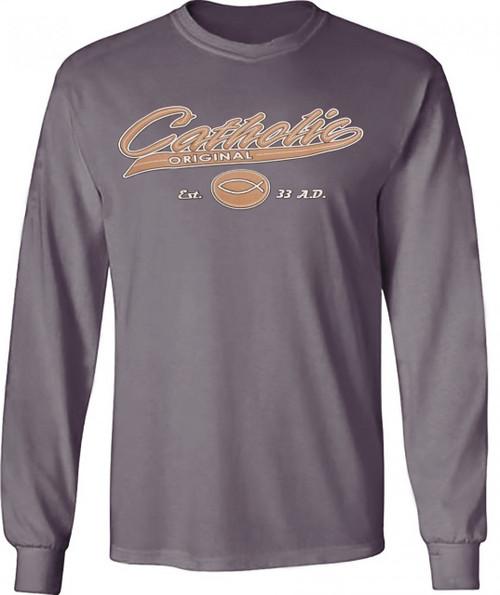 Catholic Original Base-ball style Long-sleeved Closeout Shirt