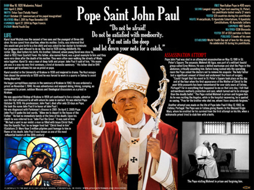St. John Paul II Waving Explained Poster