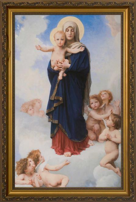 Notre Dame des Anges by William Bouguereau - Gold Framed Art