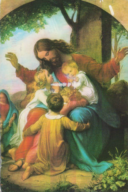 Jesus with the Children by Vogel - Print