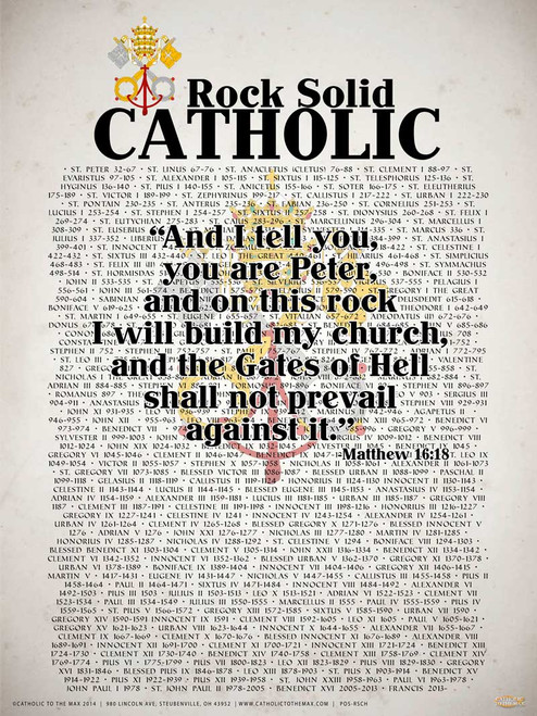 Rock Solid Catholic (Popes of the Church) Poster