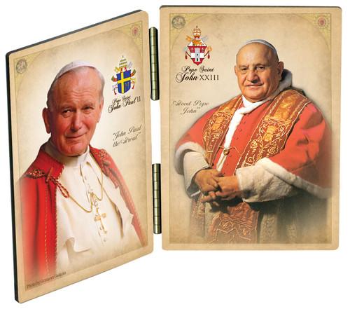 Commemorative Pope John Paul II and John XXIII Sainthood Diptych