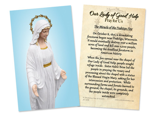 Our Lady of Good Help Miracle Holy Card
