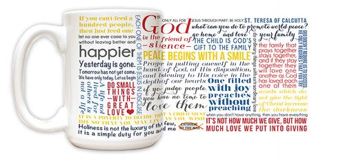 Saint Teresa of Calcutta Quote Mug