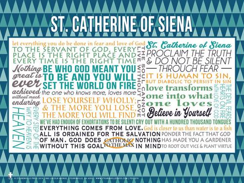 Saint Catherine of Siena Quote Poster