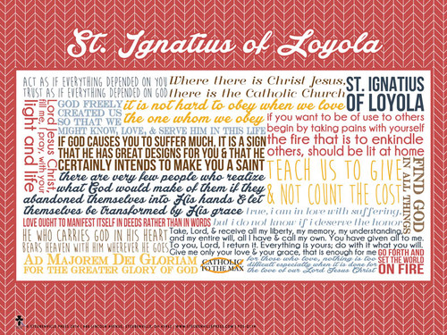Saint Ignatius of Loyola Quote Poster