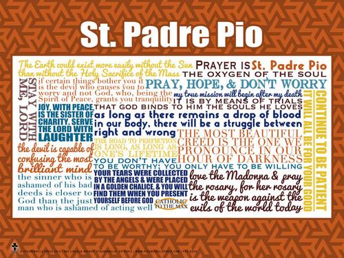 Saint Padre Pio Quote Poster