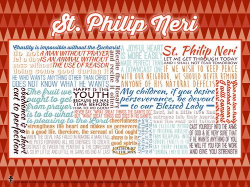 Saint Philip Neri Quote Poster