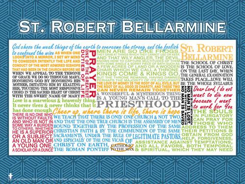 Saint Robert Bellarmine Quote Poster