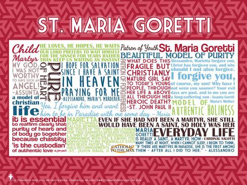 Saint Cecilia Quote Poster - 98.1KB