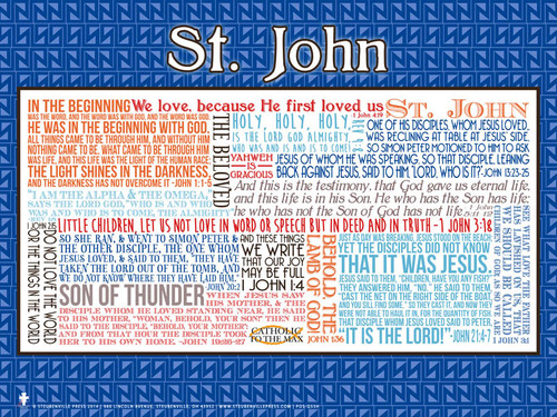 Saint John the Evangelist Quote Poster