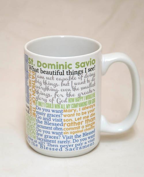 Saint Dominic Savio Quote Mug