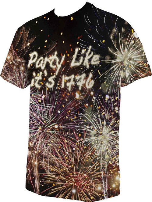 Party Like it's 1776 Graphic Poly T Shirt