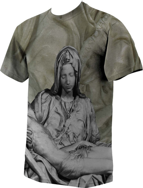 Pieta Graphic Poly T Shirt