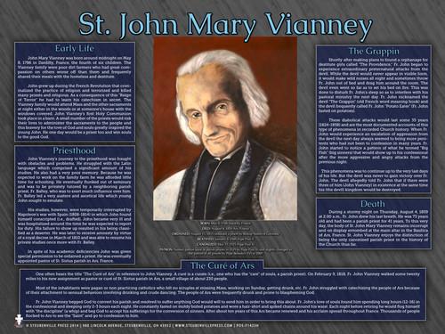 Saint John Marie Vianney Explained Poster