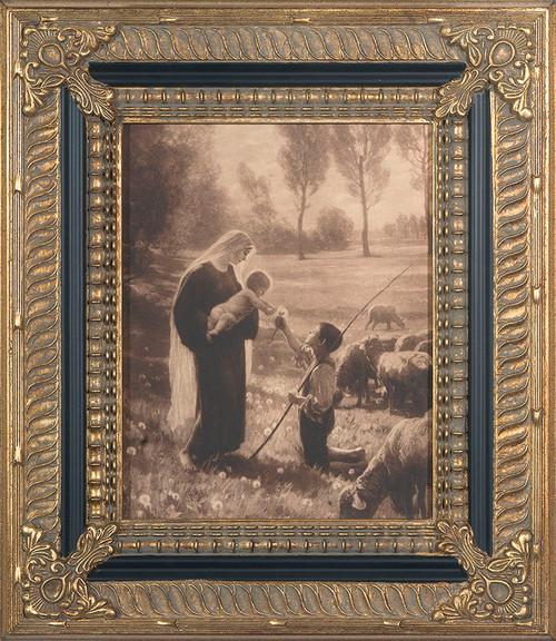 Gift of the Shepherd - Ornate Museum Framed Canvas
