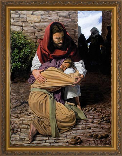 A Prodigal Daughter by Jason Jenicke - Gold Framed Art