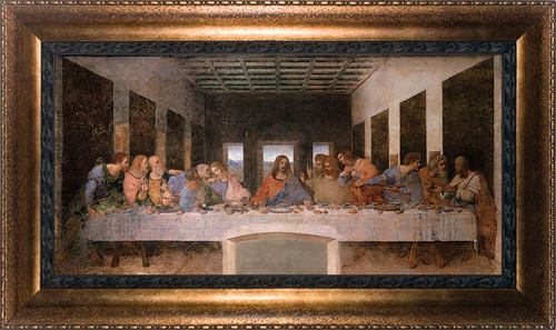 Last Supper by Da Vinci - Bronze Framed Canvas